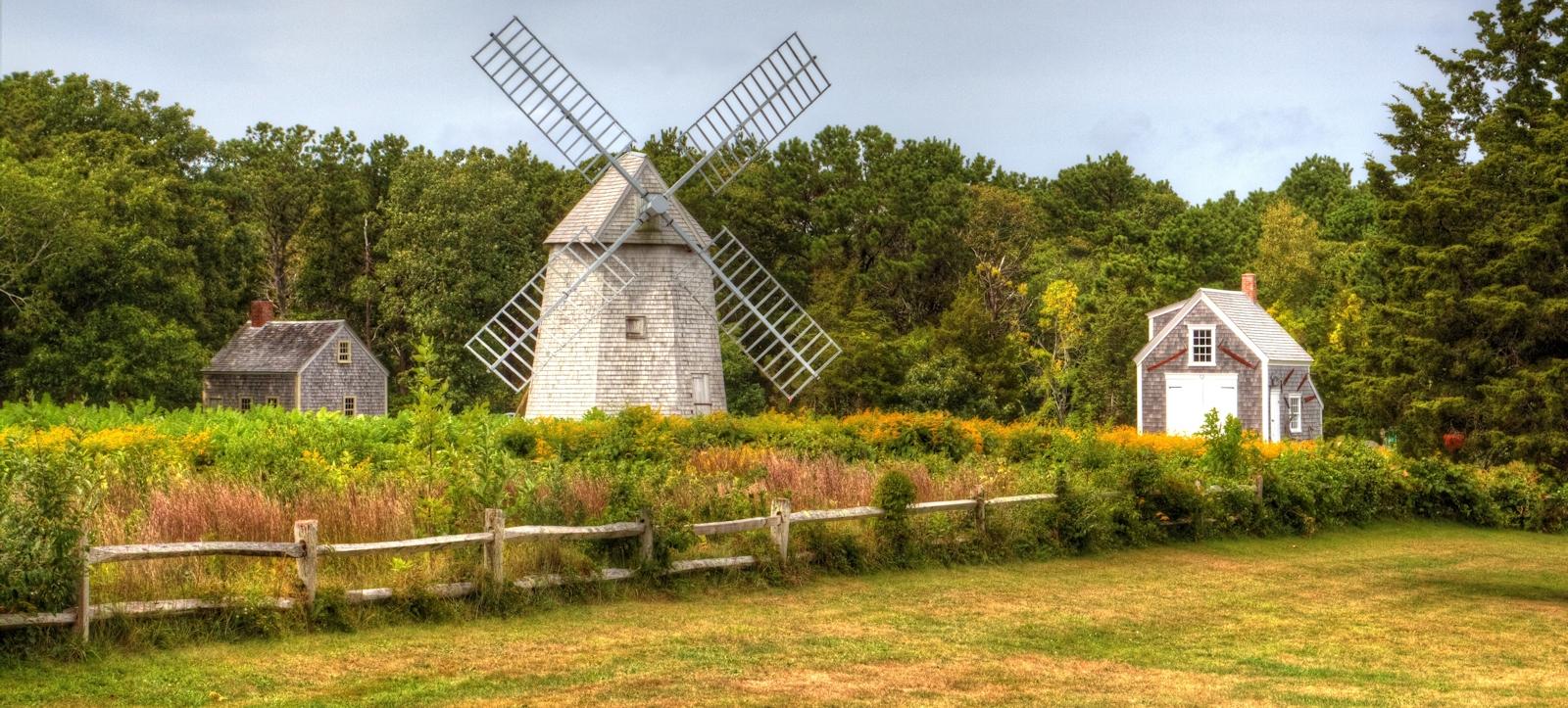 Higgins Farm Windmill in Drummer Boy Park in Brewster, Massachusetts