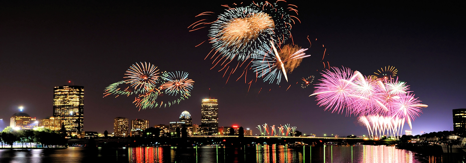 Boston Massachusetts Fireworks July 4th