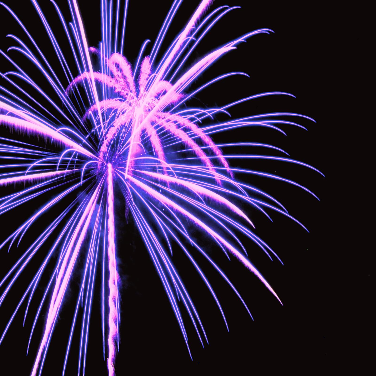 Massachusetts Fireworks July 4th Purple Pyro