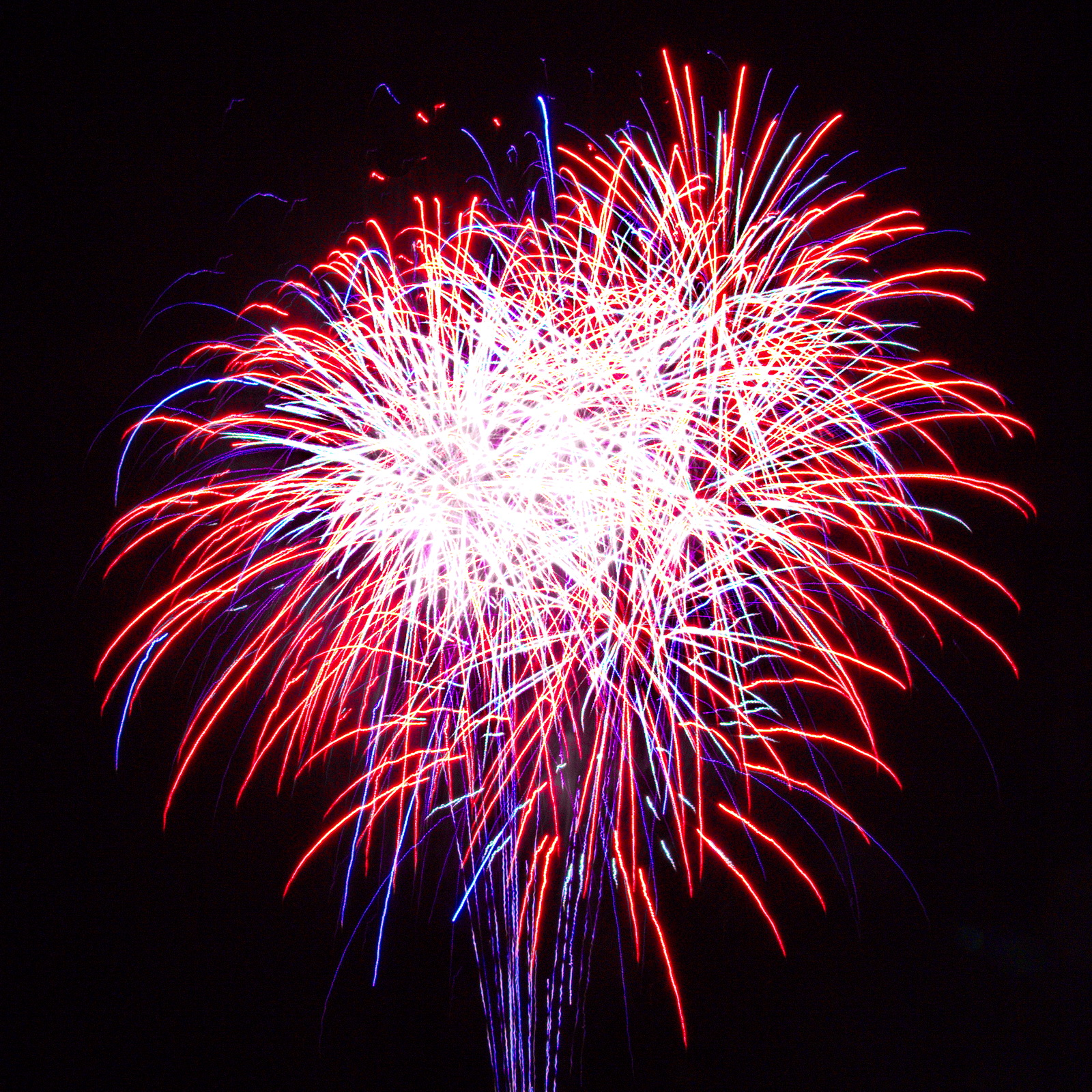 Patriotic Massachusetts Fireworks: Boom in Red, White and Blue