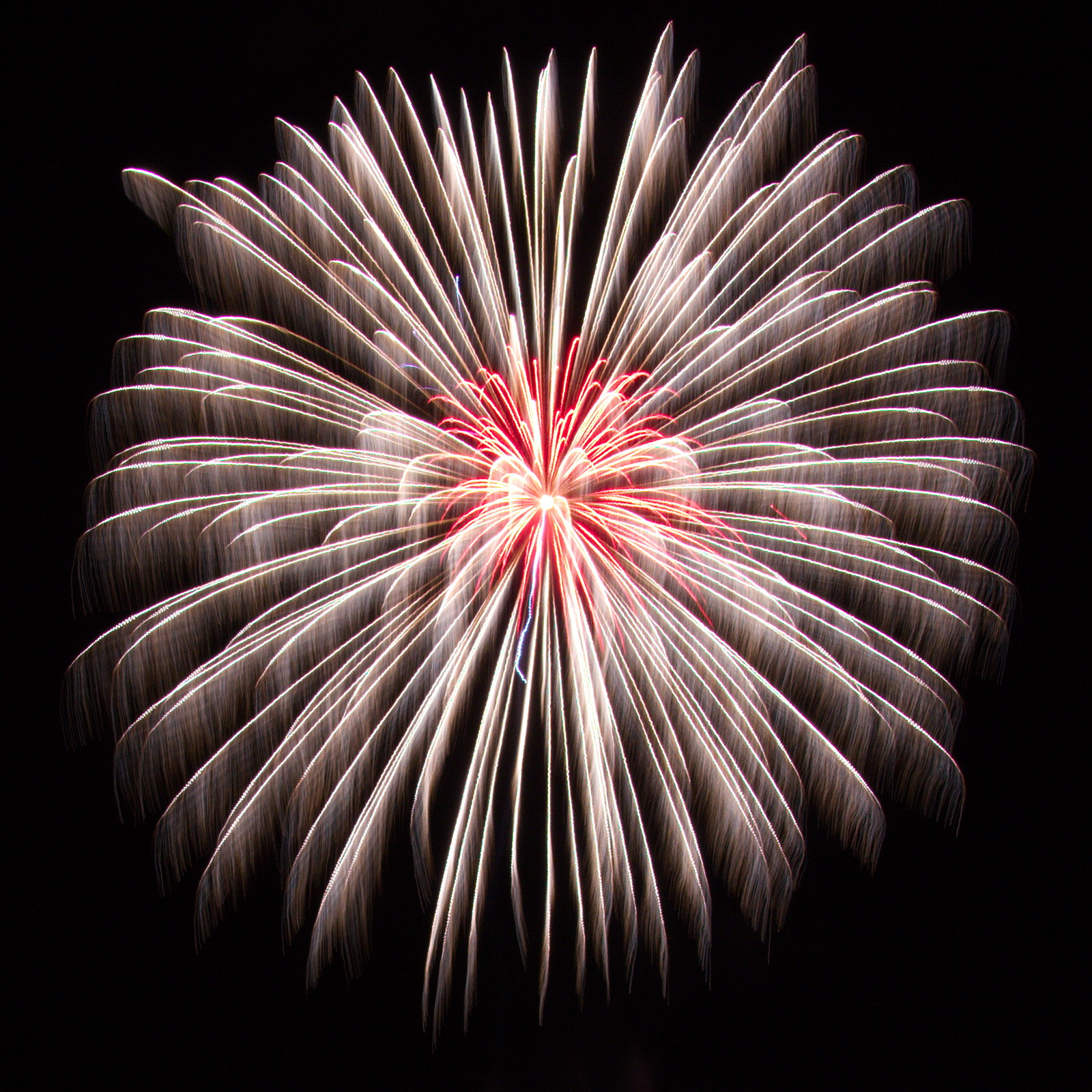 Massachusetts Fireworks: Ghost shell with red heart