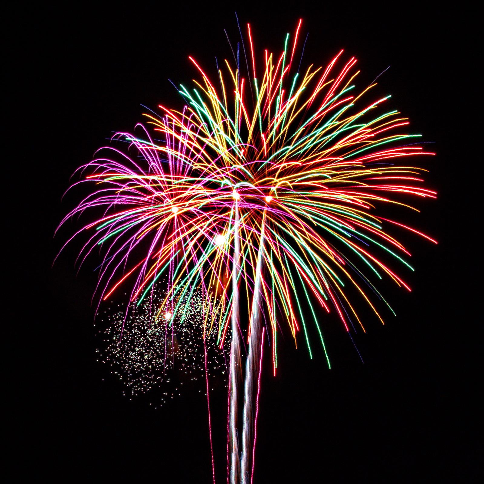 Massachusetts Fireworks: bright group