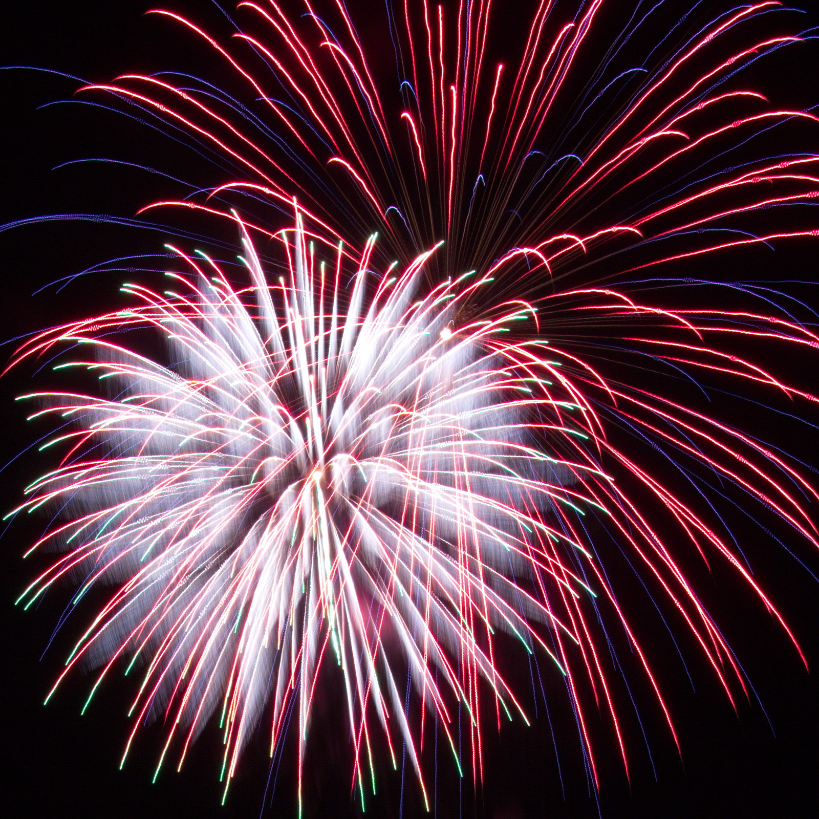 Red, White and Blue Massachusetts Fireworks: