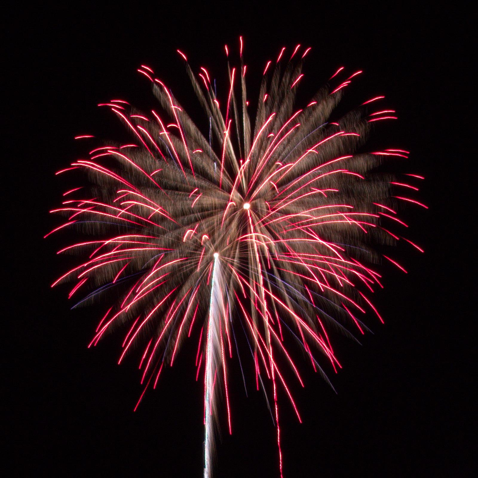 Massachusetts Fireworks: red mist ghost shell