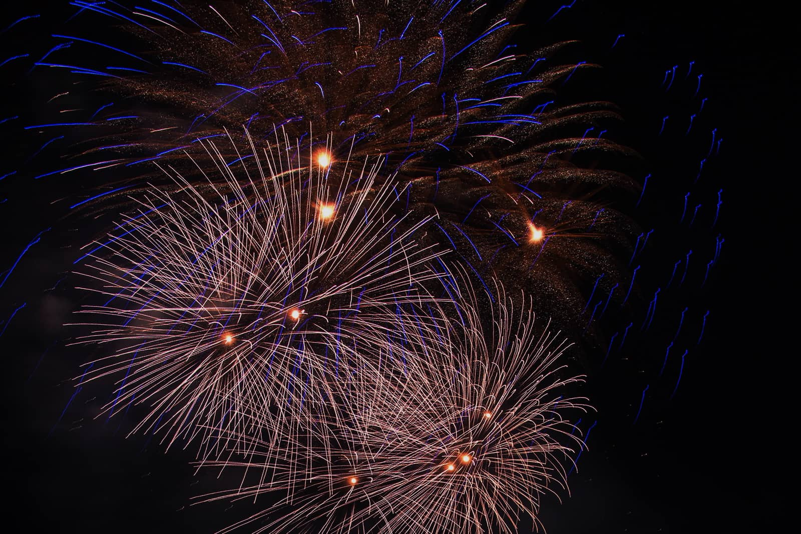 Boston Pops Fireworks Spectacular: July 4th, 2016, Blue and White Fireworks