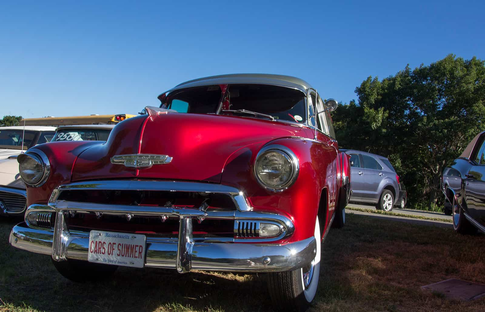 Cars of Summer Candy Apple Red 52 Panel Van
