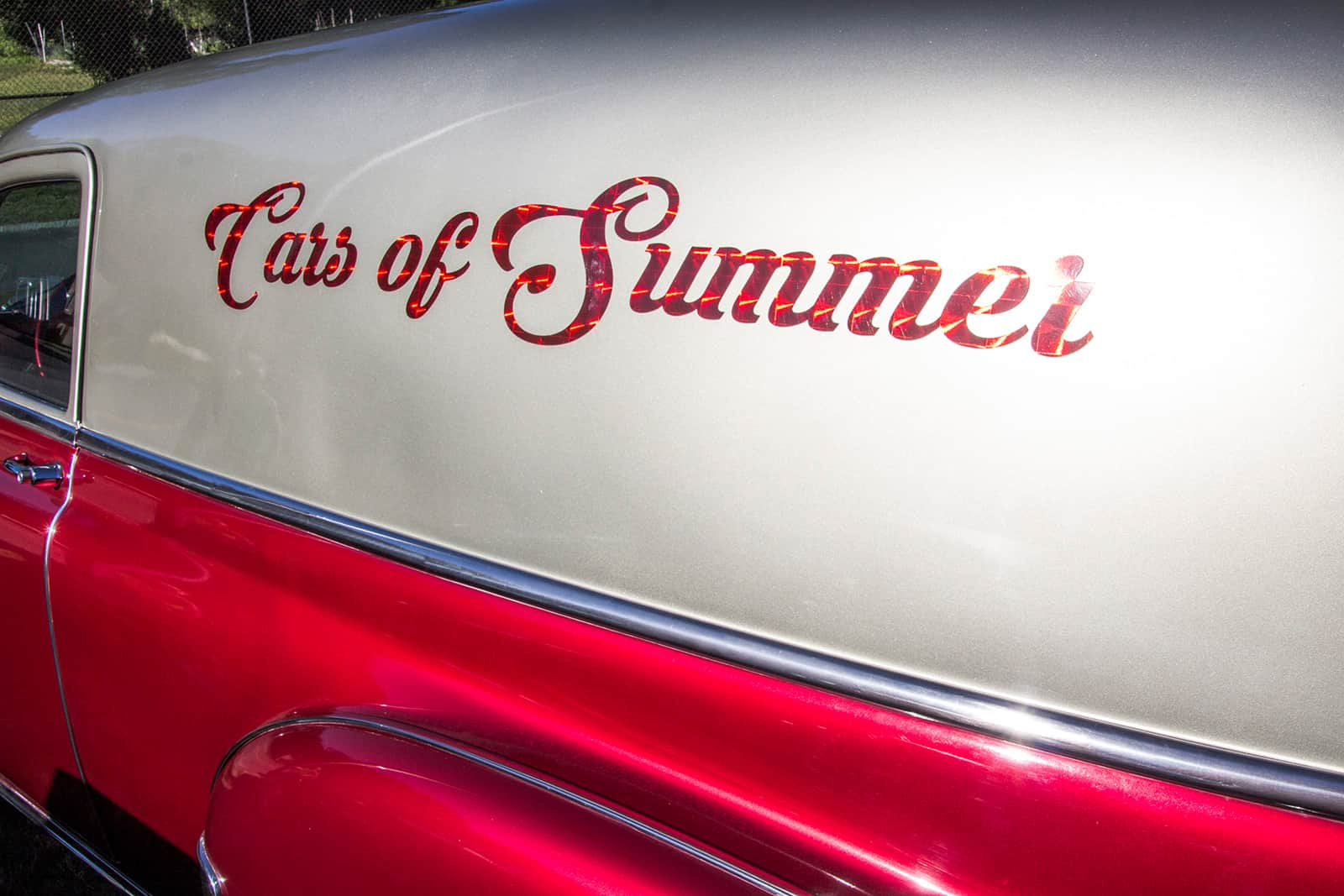 Cars of Summer Candy Apple Red 52 Panel Promo Van Side