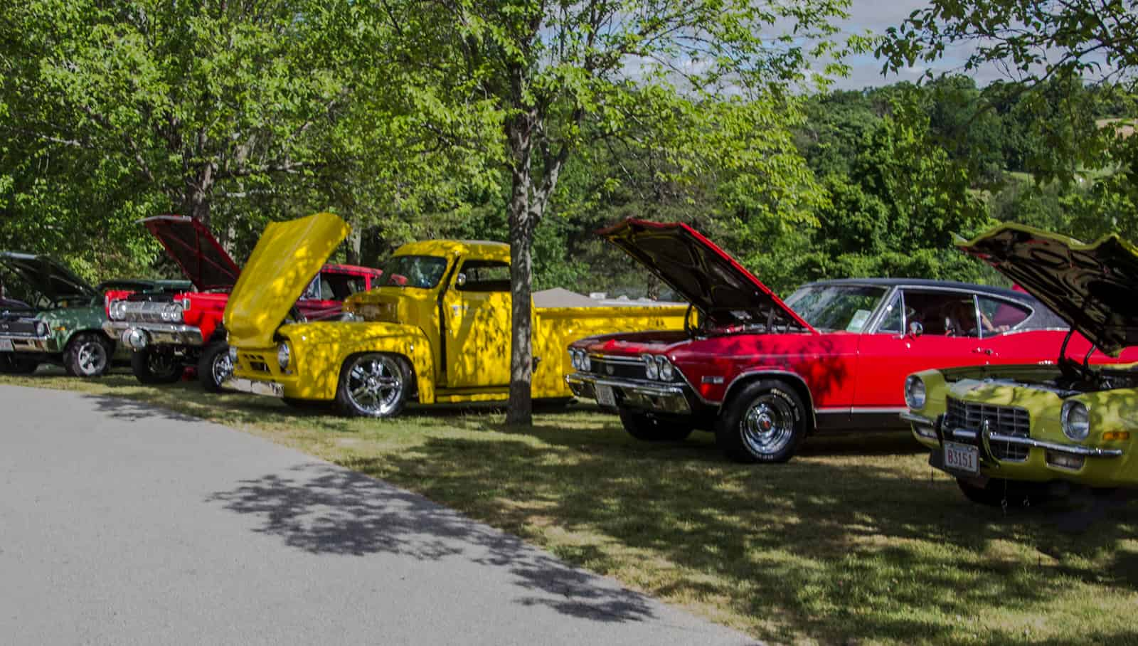 2016 Cars of Summer - Chevy - Ford - Dodge in Red and Yellow