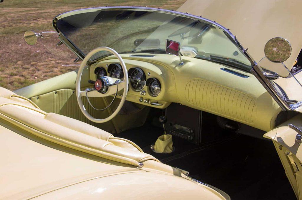 2016 Cars of Summer 1954 Cream - Yellow Kaiser-Darrin