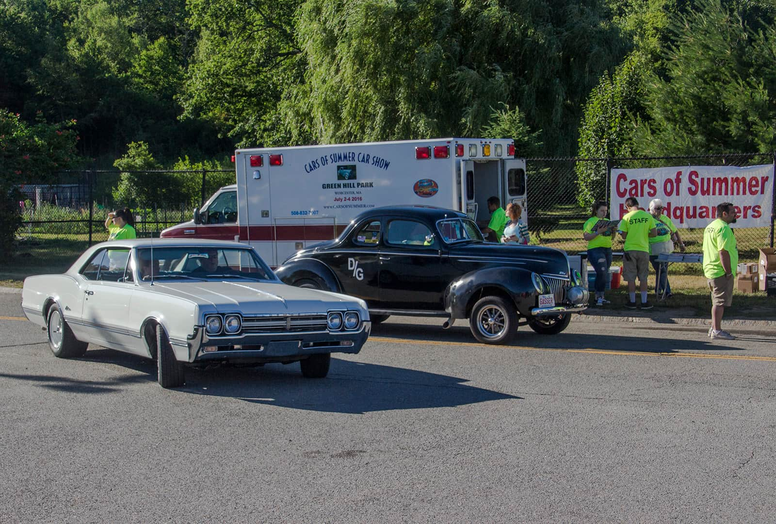 2016 Cars of Summer2016 Cars of Summer, Arrival at Show