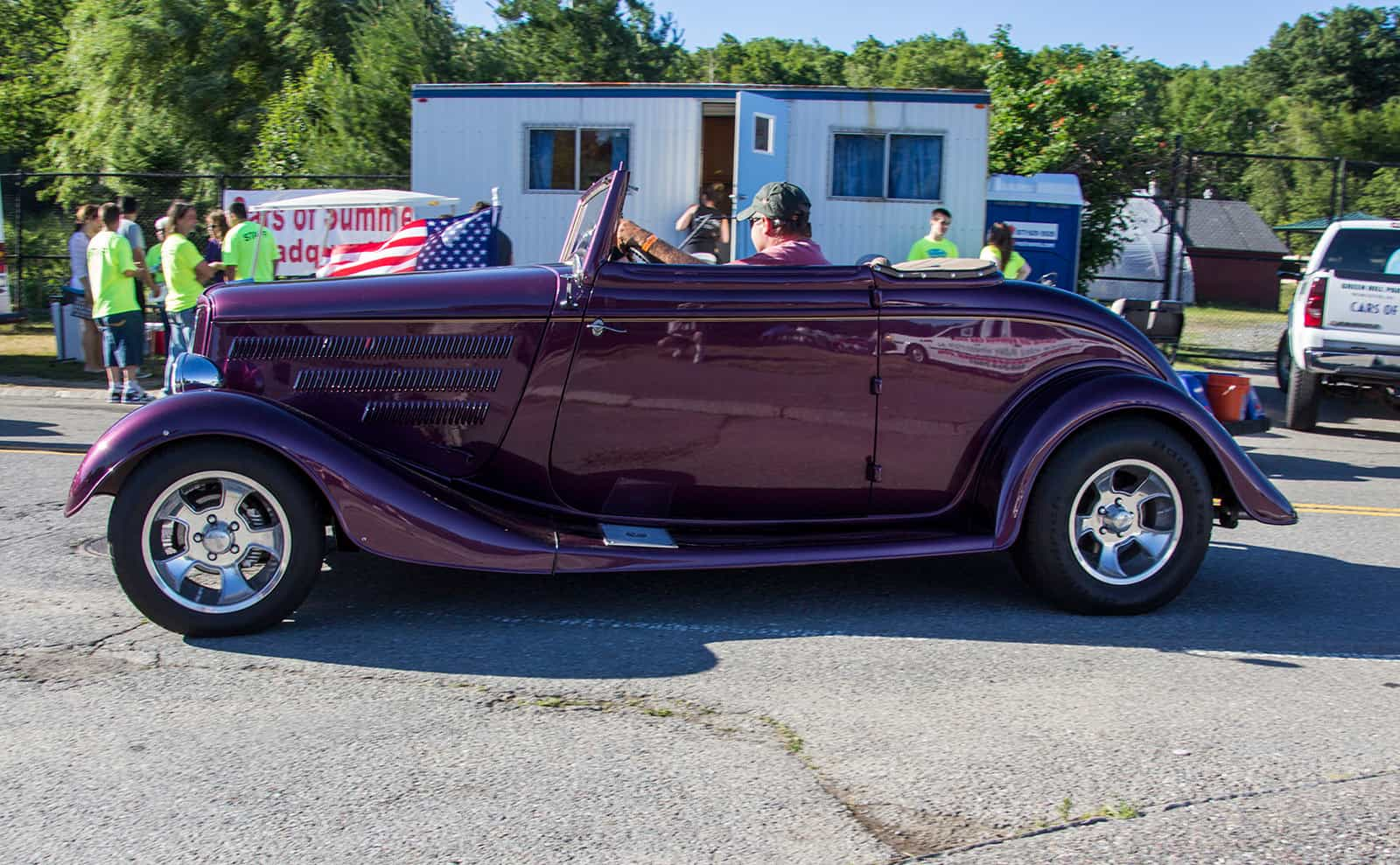 2016 Cars of Summer Car Show Worcester Purple Convertible