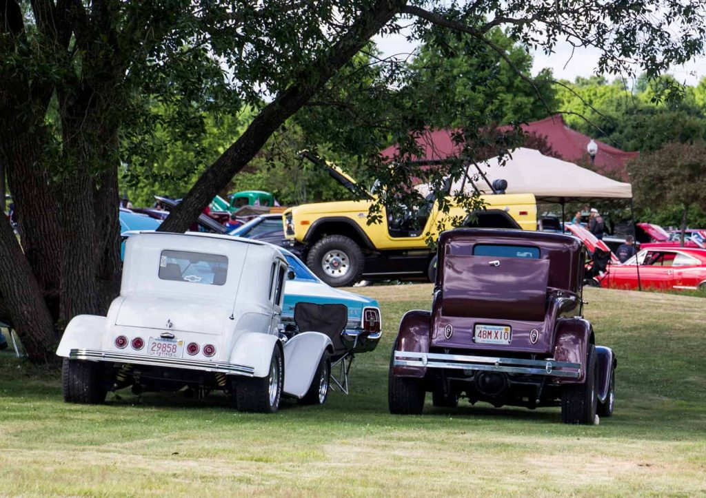 2016 Cars of Summer Street Rods under the tree