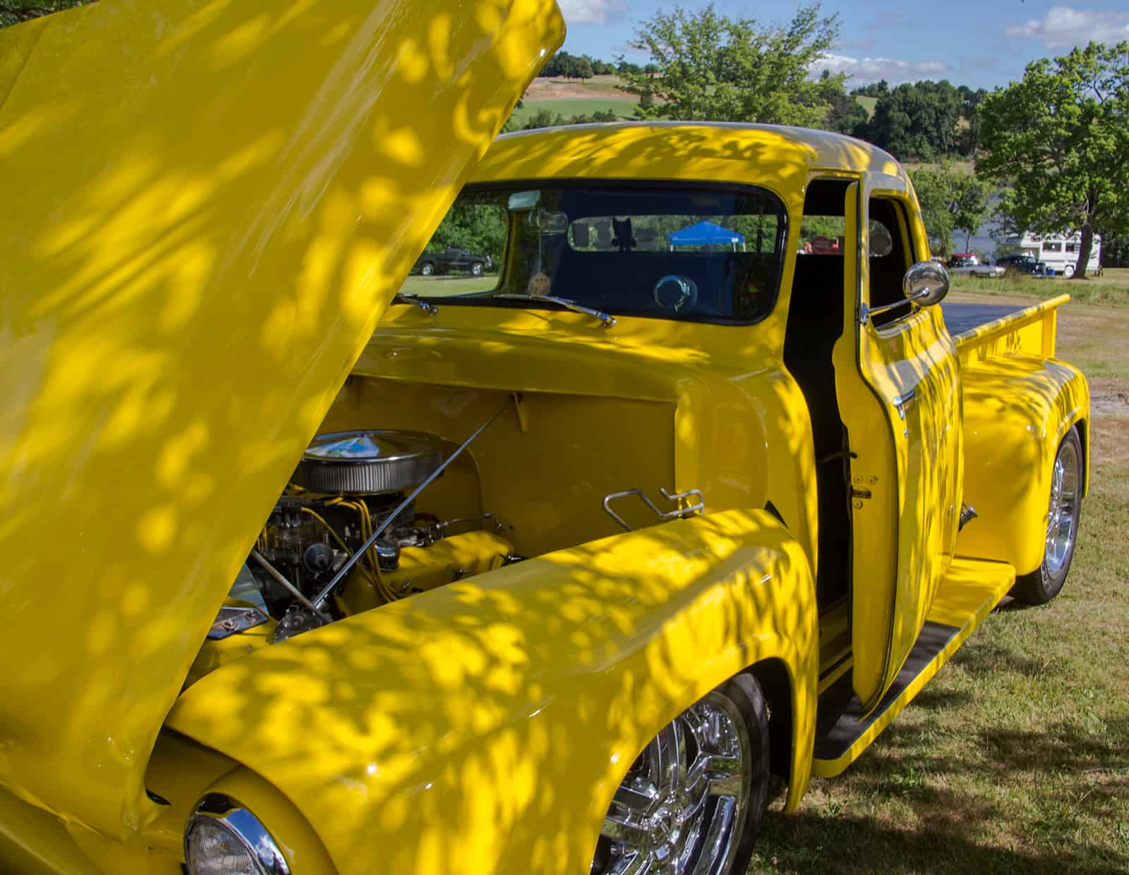 2016 Cars of Summer - Yellow 54 Ford Truck