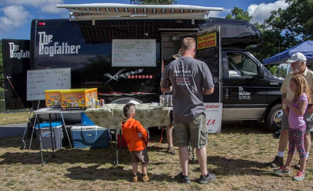 Dogfather Food Truck with Father and Son, Car Show